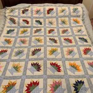 Queen basket with flowers quilt unfinished